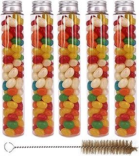 15 بسته 100 میلی لیتری لوله های پلاستیکی پاک شده با کلاه های پیچ - لوله های آب نبات Gumball-ژله Belly Bean Cookie Beets Beets Beets for Christmas Wedding Party Decor، چند منظوره توسط ZMYBCPACK