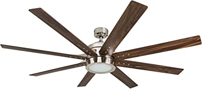Honeywell Ceiling Fans 50608-01 Xerxes Ceiling Fan, 62, Brushed Nickel (Renewed)