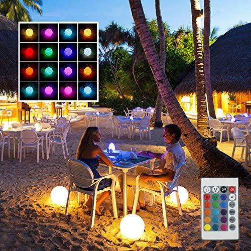 LED Ball Licht, Schwimmendes Pool Licht, IP68 Wasserdicht RGB 16 Farbwechsel, Leuchtkugel Kugellampe mit Fernbedienung LED Pool LED Ball Licht für Pooldekor im Freien, Badespielzeug, Nachtlicht