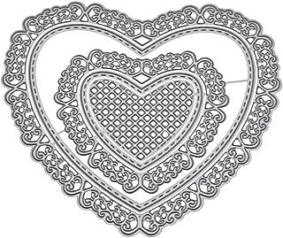 Wuweiwei12 1 juego de plantillas de corte de metal con forma de corazón para manualidades, álbumes de recortes, tarjetas de papel, repujado, manualidades, decoración