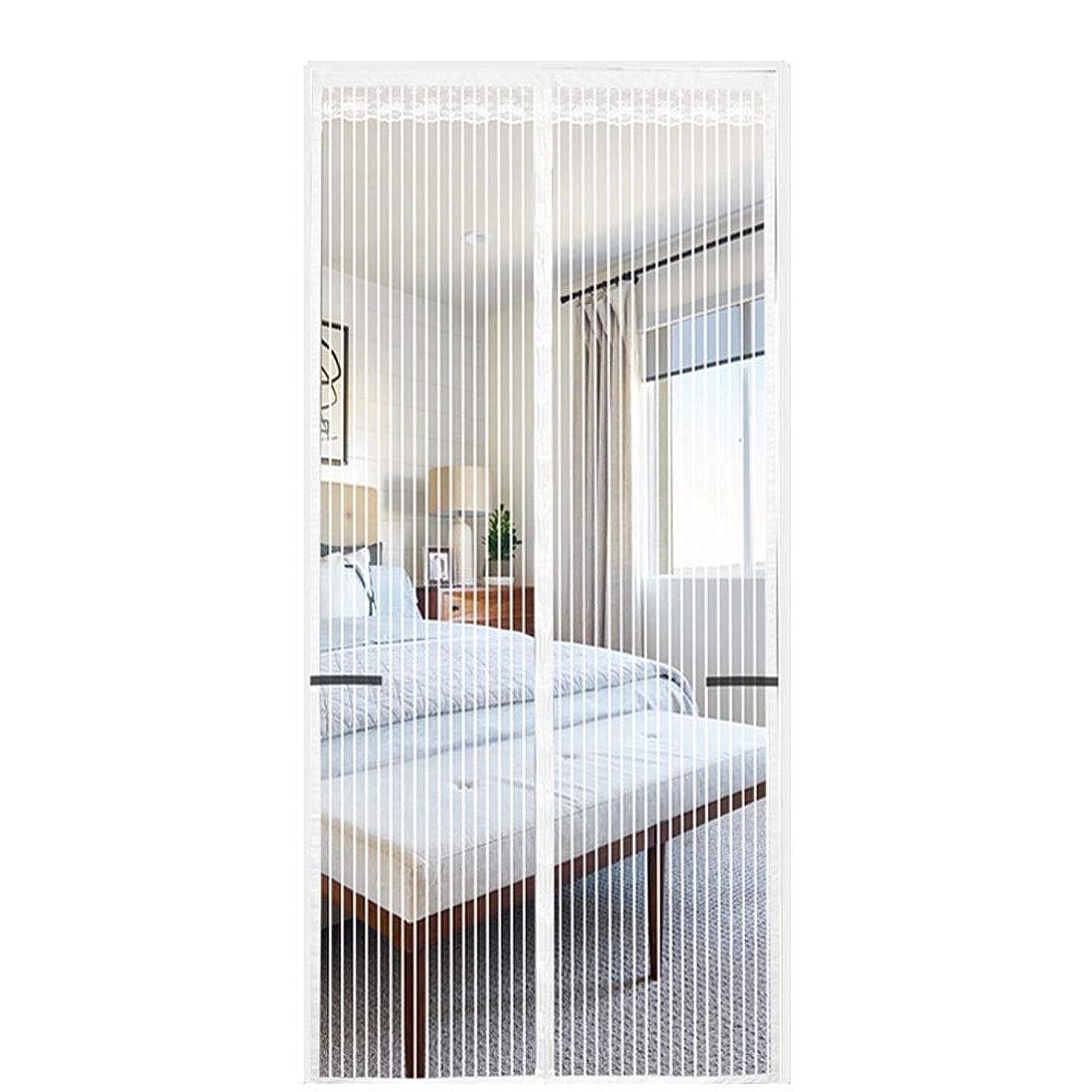 包括的クスコ文化磁気スクリーンドアカーテン 磁気防虫スクリーンドア強化ガラス繊維蚊帳スクリーンマジックメッシュカーテンフルフレームシール簡単なインストールギャップなし JFIEHG (色 : D, サイズ : 90X215)