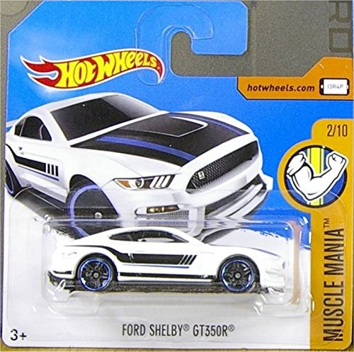 2017 Hot Wheels Muscle Mania Ford Shelby GT350R White 213/365 (Short Card)