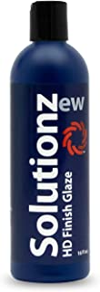 New Solutionz HD Finish Glaze - Revitalize Your Vehicle's Finish by Hand or Machine - Formulated Wax with Conditioning Oils to Add Depth of Color
