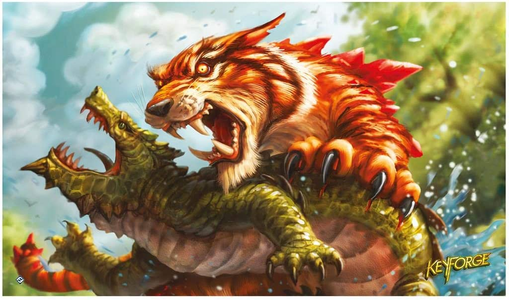 Selling and selling Fantasy Flight Games Keyforge: Tiger Playmat Max 60% OFF Mighty