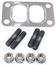 Koauto New urbo Mounting Studs & Nuts With Turbo Gasket for Dodge Cummins 89-07