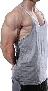 Hommes Gym Musculation Débardeur Coton Bodybuilding Fitness Stringer sans Manches T-Shirt