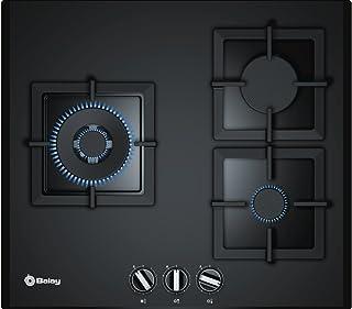 comprar comparacion Balay 3ETG663HN - Placa de gas natural, integrable, cristal templado, hierro fundido, 2 quemadores de gas y 1 quemador wok...
