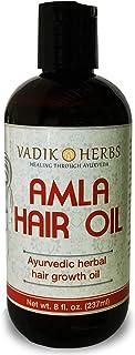 Amla Hair Oil (8 oz) by Vadik Herbs   Herbal hair growth oil   Herbal scalp treatment   Great for hair loss, balding, thinning of hair, for beard growth, made with Amla (Amalaki) - Indian gooseberry