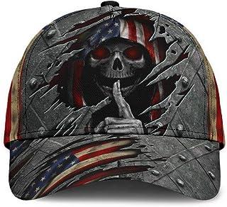 2021 Skull American Flag Classic Cap Black