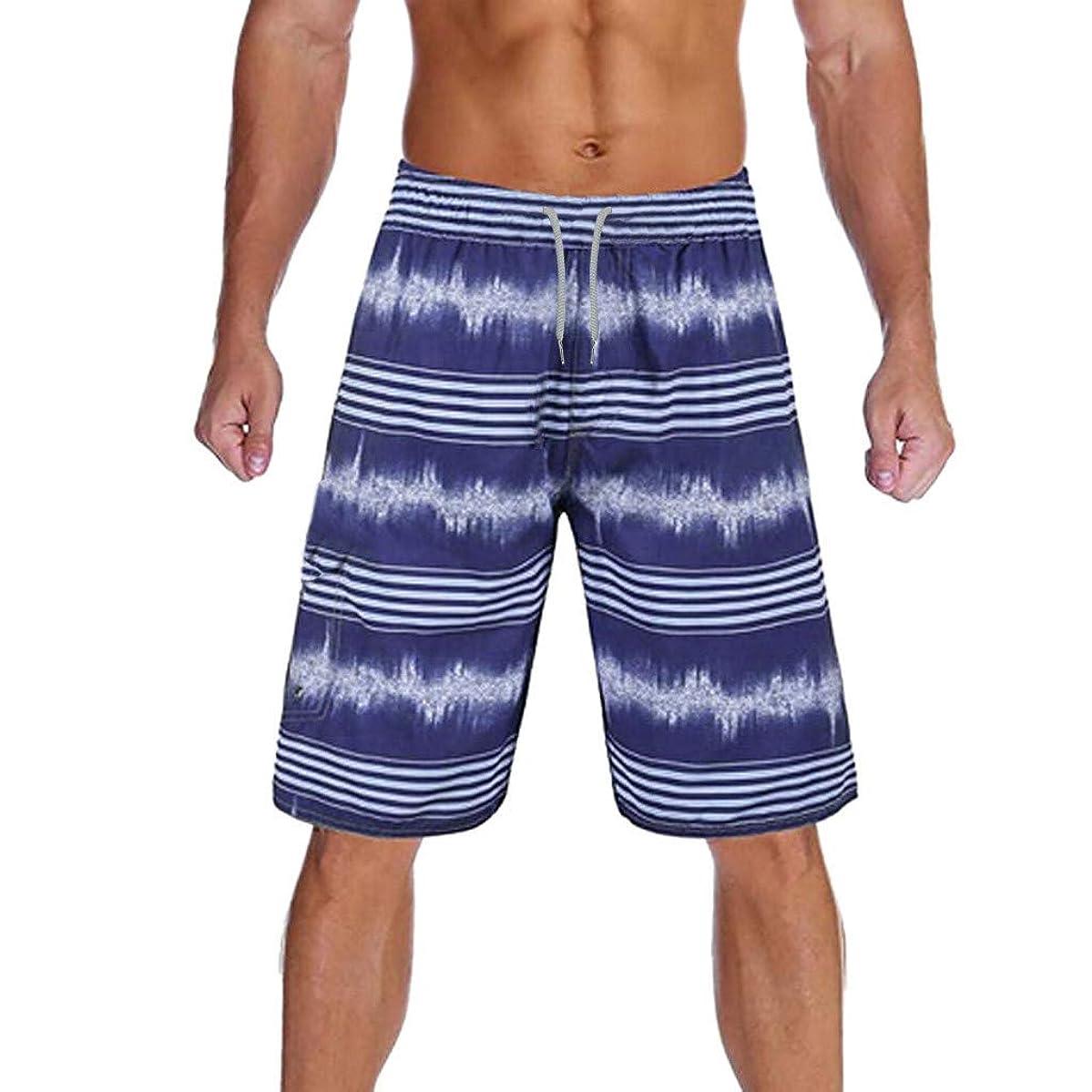 Surf Board Shorts,Men Fashion Splice Stripe Beach Work Casual Men Short Trouser Shorts Pants