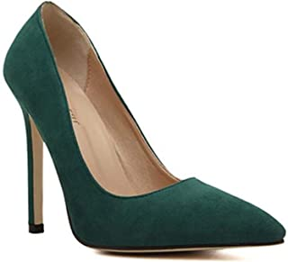 Surprise S Size 35-43 Women Pumps New Sexy High Heels Pointed Toe Party Shoes Wedding Office Pumps Red Green Pluse Size