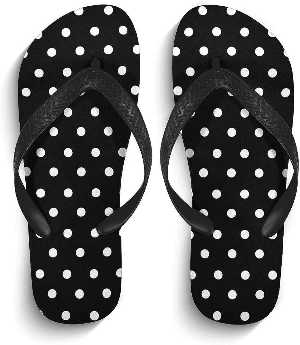 InterestPrint Non-Slip Flip Flops Black Straps Space Planets Stars Moon Sun Summer Beach Thong Sandal for Men