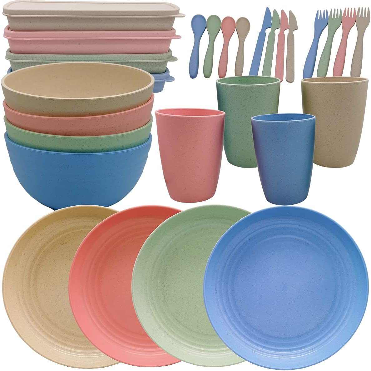 Acroyan Wheat Straw Dinnerware Sets- Unbreakable Pack Minneapolis Mall 28 Cheap mail order specialty store Dinnerw