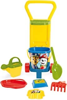 Wader 81170 Paw Patrol Toy with Caddy, Bucket, Water Jug, Strainer, Shovel, Rake and 2 Sand Shapes, 8 Pieces