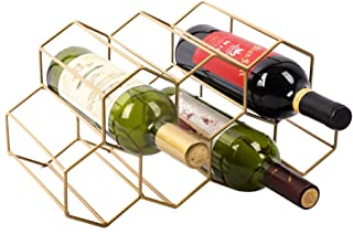 Best hexagon wine rack gold Reviews