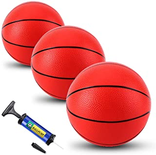 TNELTUEB Mini Pool Basketball for Kids Replacement 3 Pack with Premium Pump, Fits All Standard Swimming Pool Basketball Ho...