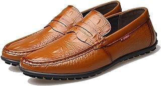 [QIFENGDIANZI] ドライビングシューズ メンズ 3色 ブラウン イエロー ブラック おしゃれ 紳士靴 スリッポン 快適 ソフト コンフォート 24.0cm-27.0cm