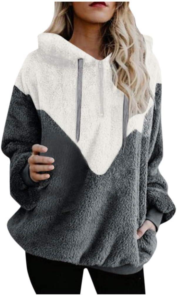 Eoailr Women's Oversized Fleece Hoodie S Warm shopping with Fuzzy Superlatite Pockets