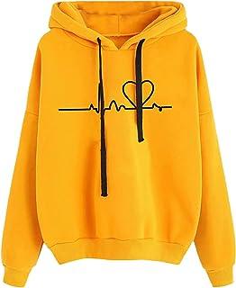 Nieuwe Vrouwen Sweatshirt Hoody Dames Hooded Heartbeat Gedrukt Casual Truien Meisjes Lange Mouw Herfst Winter Kleding