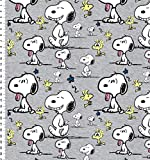 Fabrilogy Bio Jersey Snoopy Faces, hellgrau/ab 50