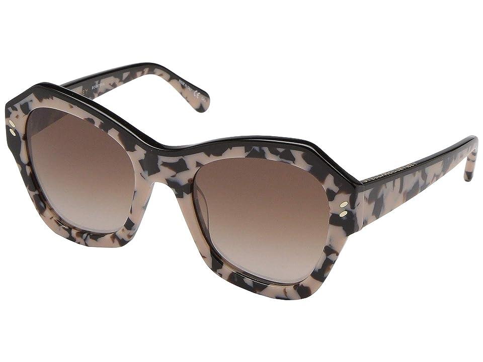 Stella McCartney SC0022S (Avana/Avana/Brown) Fashion Sunglasses, Black