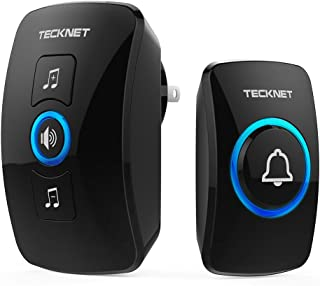 Wireless Doorbell, TeckNet Waterproof Wireless Door Bell Chime Kit, Operating at 1000 feet Range with 32 Chimes, 4 Volume Levels and LED Flash
