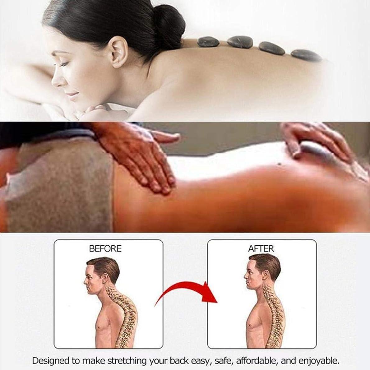 摘む後者赤字バックランバーサポート、マルチステージバックストレッチングデバイス、背中の痛みを和らげる、筋肉痛の軽減 (Color : E)