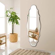 GRJ Household Items& Banheiro Espelho de parede sem moldura Espelho decorativo para sala de estar Espelho moderno
