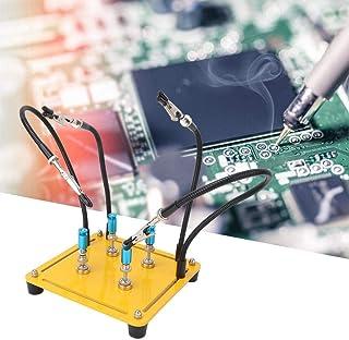 Luckya サーキットボード固定具、ハンド4フレキシブルアームはんだ修理Fiutureを支援可動回路基板ホルダー(柱付)
