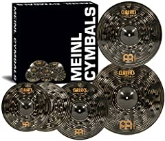 "Included in the Classics Custom Dark bonus set — 14"" dark hihats, 16"" Dark Crash, 20"" Dark Ride plus a FREE 18"" Dark Crash Dark finish with extra hammering — a highly specialized finishing process leaves this cymbal with shadowy tones and plenty of v..."