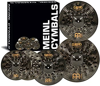 """Meinl Cymbal Set Box Pack with 14"""" Hihats 20"""" Ride 16"""" Crash Plus a FREE 18"""" Crash – Classics Custom Dark – Made In Germany TWO-YEAR WARRANY  CCD460+18"""