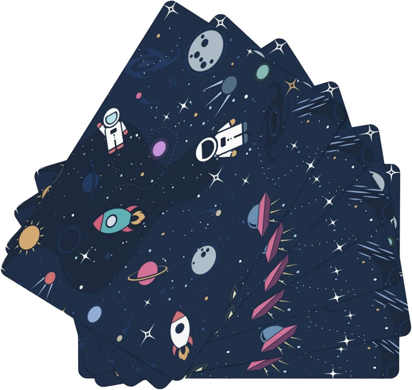 Stars in Outer Space Leather Manufacturer regenerated product Resistant Placemat f Free shipping Stain