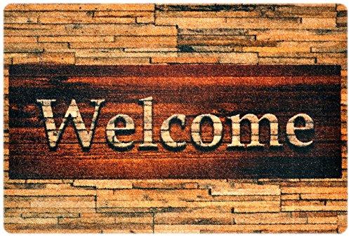 Felpudos Exterior – felpudos Entrada casa, alfombras casa, Alfombrilla Moderna, Alfombrilla Antideslizante, felpudos Originales Welcome – 40x60 cm