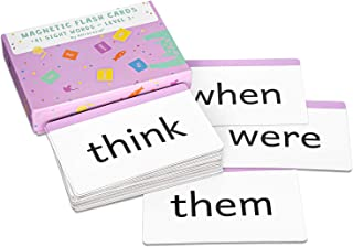 Attractivia Sight Words Magnetic Flash Cards 1st Grade - 41 Large Cards for Literacy of Beginning Readers and ESL