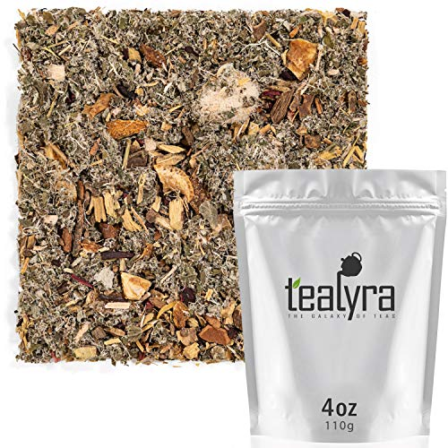 Tealyra - Tip-Top Throat - Detox Tea - Licorice - Hibiscus - Natural Throat Soother - Herbal Loose Leaf Tea - Caffeine-Free - Relaxing Herbal Remedy - Cough Relief - 112g (4-ounce)