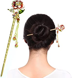 Fashion & Lifestyle Hair Decor Chinese Traditional Style Hair Sticks Shawl Pins Picks Pics Forks for Women Girls Hair Updo Making Accessory 6