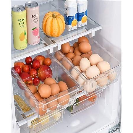 Boîte de rangement pour réfrigérateur – Boîte de rangement transparente pour aliments frais en plastique, rangement cuisine, rangement frigo