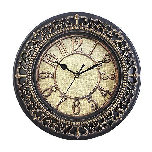 30cm 3D Silent Retro Quartz Clock Reloj de Pared Decorativo Reloj de Dormitorio Reloj Retro Reloj de Pared de Sala de Estar para el hogar/Oficina/Escuela (B 30cm)