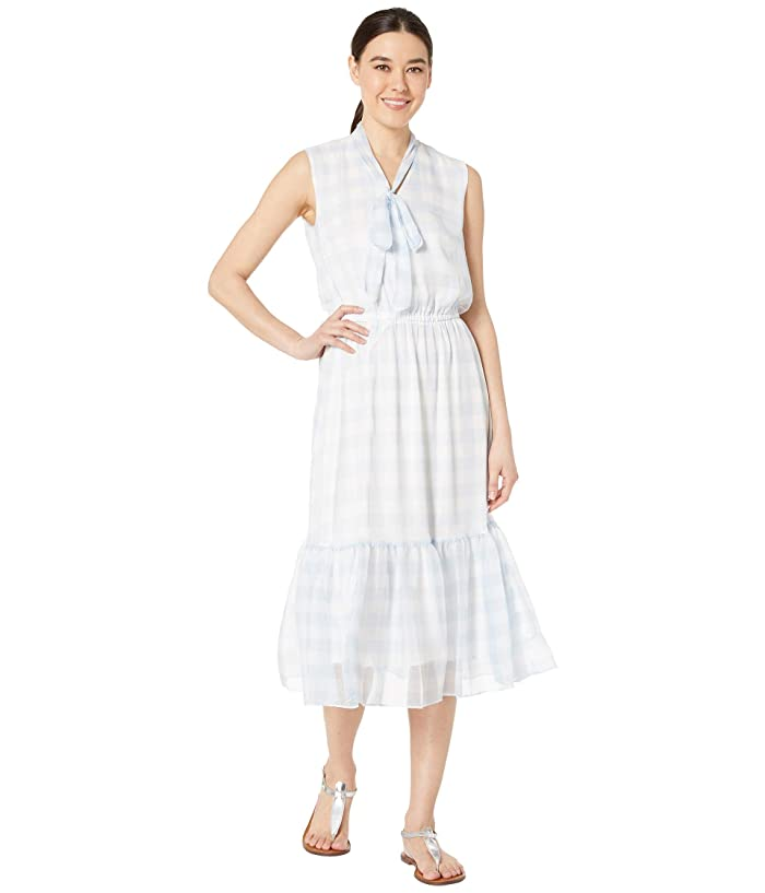 93a9cca2 LAUREN Ralph Lauren Petite Gingham Tie Neck Dress at Zappos.com