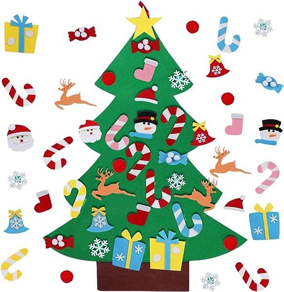 木心 DIY 毛毡圣诞树套装儿童装饰品圣诞礼物新年门壁挂装饰品