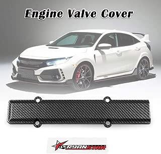 RYANSTAR Engine Valve Carbon Fiber Style Spark Plug Cover B-Serie Stiker Fit for Honda Civic B16 B18