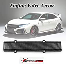RYANSTAR Engine Valve Carbon Fiber Style Spark Plug Cover B-Serie Stiker Fit for Honda Civic B16 B18