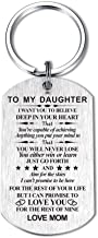 Inspirational Gift for Son Daughter from Mom Dad I Want You to Believe Keychain Ring for Birthday