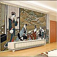 HD浮世絵ウィンタークラブ歌手産業装飾壁紙3d寿司日本食レストラン壁画背景3d壁紙-140X100cm