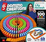 Spin Master Games H5 Domino Creations 100-Piece Neon Set by Lily Hevesh, for Families and Kids Ages 5 and up (6061869)