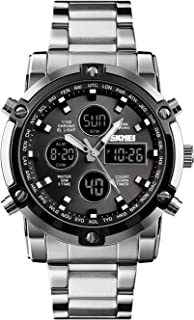 Sponsored Ad - Men's Digital Watch Military Sports Watches Tactical Waterproof Stopwatch Outdoor Analog Watch Alarm Dual T...