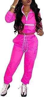 Women's Sexy 2 Piece Outfits Long Sleeve Stripe Reflective Jacket Pants Tracksuit Set
