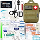 FalconTac 200 Pieces First Aid Kit IFAK Survival Kit Molle System Compatible Pouch, Emergency Kit Gift for Men, Dad, Husband, for Outdoor, Camping, Hunting, Hiking, Home, Earthquake, Disasters
