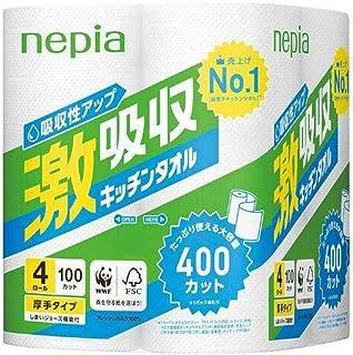 (まとめ買い) ネピア 激吸収 キッチンタオル 4ロール 2枚重ね 100カット 【×5】