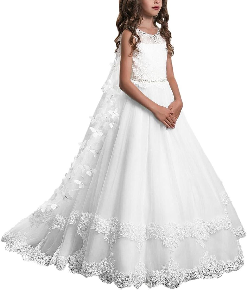 PLwedding Lace Flower Girls Dresses Communion Max 46% OFF P First Dress Latest item Kids